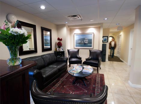 Waiting area inside Beaufort Family Dental in Comox BC